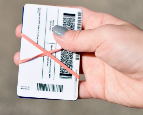 Secure Cards and Cash with Rubber Band Back
