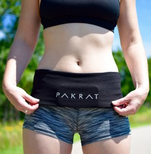 Black PakRat Running Belt Fold Down