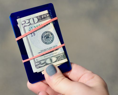 Secure Cash and Cards with Rubber Band